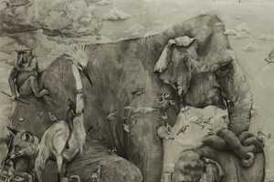 The 'Elephants' Mural by Adonna Khare is Astounding in Its Intricacy