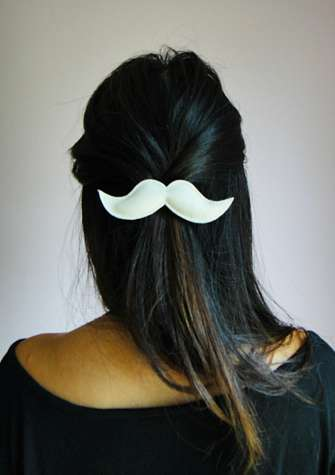 Mustache Hair Clips 