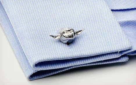 Sci-Fi Formal Accessories - The Geeky Star Wars Cufflinks Add Charisma to a Suit