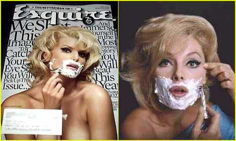 Retro Reshoots 2 - Jessica Simpson as Virna Lisi on Esquire Mag