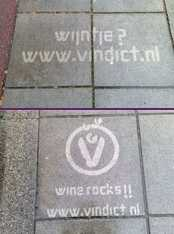 Water Graffiti - Vindict Wine Campaign