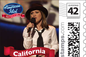 Kelly Clarkson Stamps for Idol Gives Back