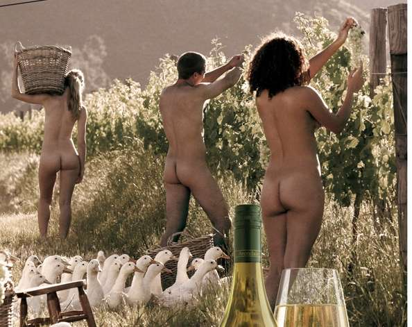 Nudevertising for Wine