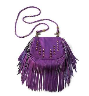 Vanessa Mooney Electric Purple Fringe Bag