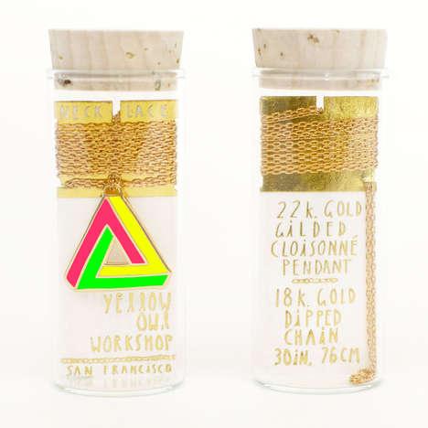 Test Tube Jewelry - Yellow Owl Workshop's Neon Pendants Borrow from Chemistry