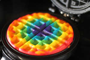 These DIY Rainbow Waffles are Part of a Cheerful Breakfast