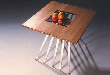 Amidov Cherry Wood Table