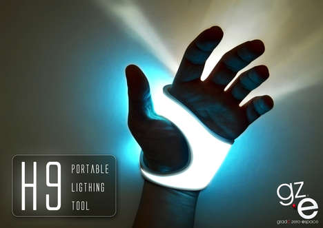Innovative Luminous Gloves - The H9 Portable Lighting Tool Can Be Worn Conveniently on the Palm