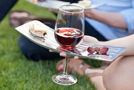 Al Fresco Oenophile Servers - The Coalesce Picnic System is a Sophisticated Set of Outdoor Dishes