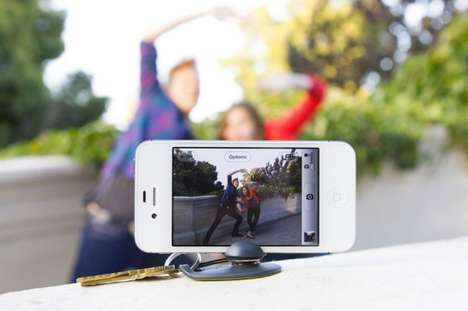 Phone-Holding Key Chains - The Tiltpod Mobile is a Tripod That Fits in Your Pocket