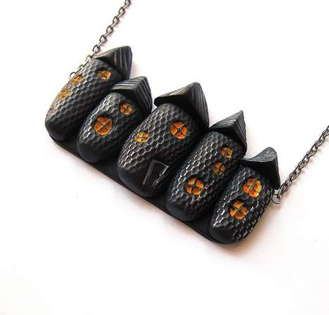 haunted house Halloween necklace
