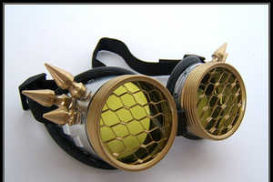 These Steampunk Goggles are Unique and Handmade