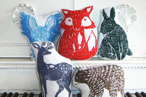 The Handmade Plush Pillows by Laura Frisk are Adorable