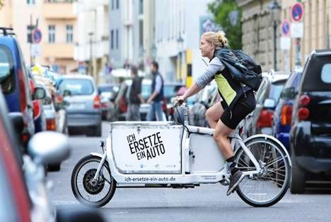 Electric Transport Bicycles - The iBullitt Solar Cargo eBike Reduces Energy in Freight Businesses