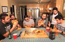 Burger-Made Birthday Pizzas   - Epic Meal Time Celebrates 2 Years with a Deep Dish Fastfood Pizza