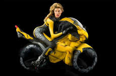 Contortionist Motorbike Photoshoots