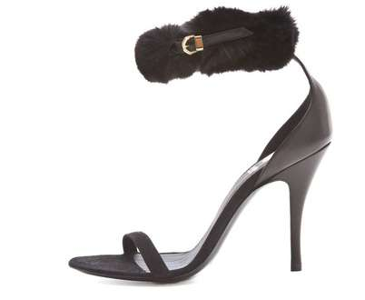 Viktor & Rolf Rabbit Fur Sandals