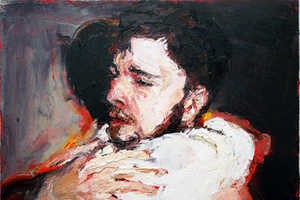 Adam Brooks Oil Paintings Capture Sentimental Male Moments