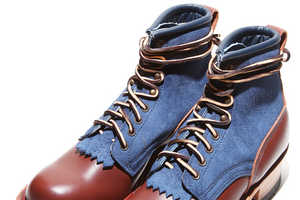 The Free & Easy Jumper Plain Toe Boot is a Collaboration With White's Boots