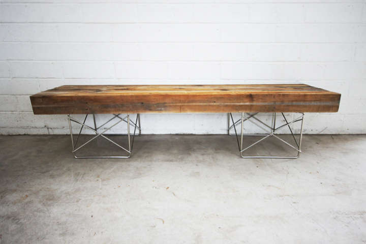 Reclaimed Wood Post Seaters