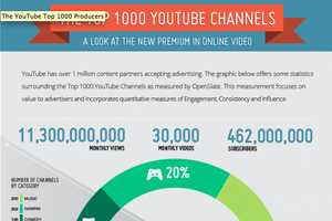 The Top 1000 YouTube Channels are Broken Down and Analyzed by Content