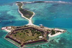 Key West, Florida Houses a Deserted Island with the Dry Tortugas