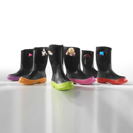 Kids Rain Boots with Storage