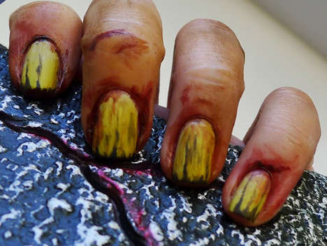 Nail Buff Zombie Hands tutorial