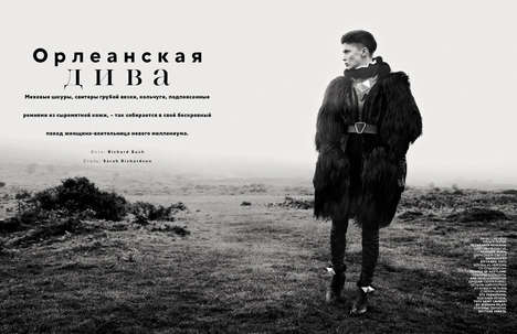 The Vogue Russia November 2012 Feature Showcases Seaside Pelts