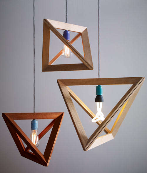 Geometric Wooden Lampshades