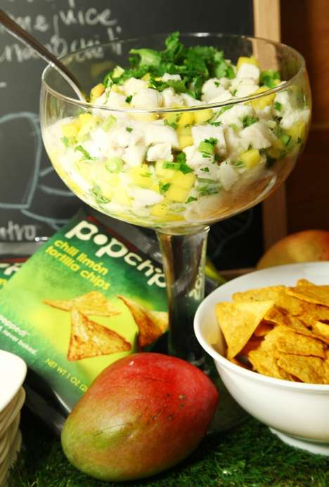 Half Time Tortilla Snacks - Chef Aaron Sanchez Incorporates Popchips Into Football Dishes