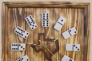 Decorate with Rustic Looking Domino Clocks