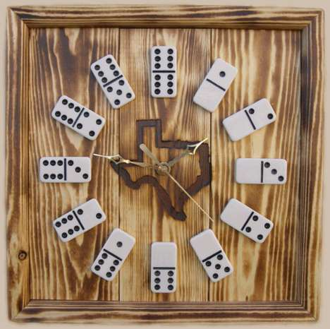 Upcycled Game Clocks - Decorate with Rustic Looking Domino Clocks