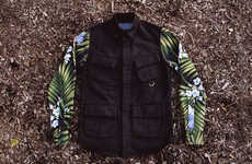 Tropic Floral Print Garments - Kith Blue Label Clothing Features Fantastic Floral Fabrics