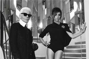 The Victoria Beckham for Elle France Editorial Shot by Karl Lagerfeld