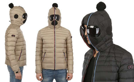 nylon hooded down jacket