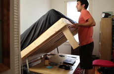 Convertible Bedroom Furniture - The Kickstarter UrbanDesk Conserves Space and Saves Time
