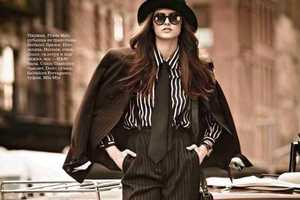 The Elle Russia November 2012 Spread Channels a Classic 70s Muse