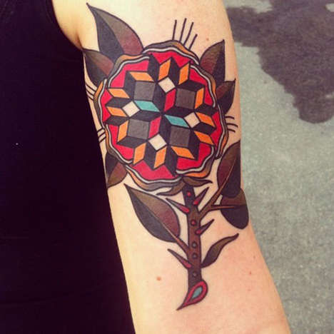 Jonas Geometric Traditional Tattoos