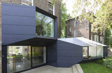 Contrasting Origami Extensions - The Residential Extension by Alison Brooks Architects is Modern
