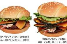Festive Squash Hamburgers - The Burger King Pumpkin Burger is Only Available in Japan