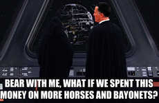 Archaic Policy Memes - The Horses and Bayonets Blog Takes a Political Zinger to Escalated Hilarity