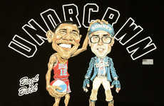 Comic Presidential Support Tees - The Undrcrwn