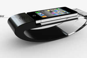 The Stander iPhone Dock is a Rocking Phone Cradle
