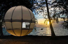 Lavish Hanging Human Abodes - Experience the Beauty of Nature from the Air with the Cocoon Tree