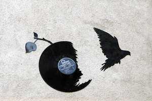 Kesa Vinyl Silhouettes Capture Birds and Bats in Flights of Freedom
