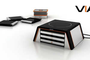 The VIA Modular Cooking Unit Makes Any Meal on Your Countertop