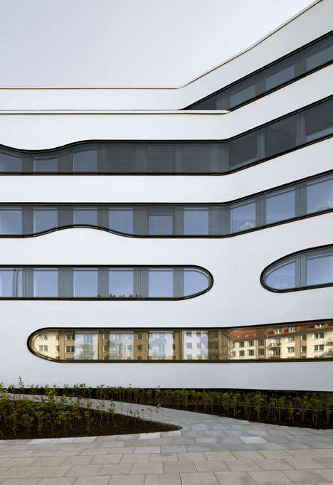 Curvaceous Window Architecture - The Schlump One Hamburg by J. Mayer H. Modernizes the Cityscape