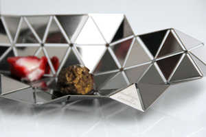 The Facetat Serving Dish is a Bowl Molded From a Geometric Sheet