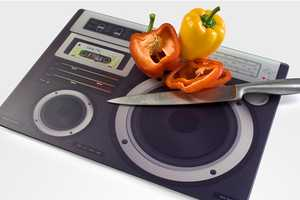 The Boombox Chopping Board is Perfect for Any Music Lover
